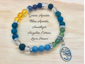 Apatite, Citrine and Ameths Weight Loss Motivational Bracelet