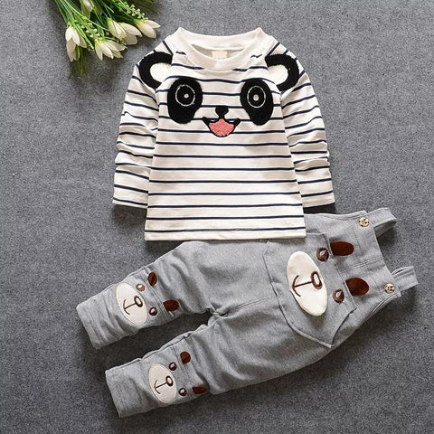 Kidswear For Girl Kids Boys Spring Cute Strap Clothing Suits