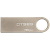 Kingston 16GB DataTraveler SE9 USB 2.0 Flash Drive - Metal Silver