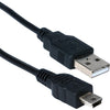 QVS USB Mini-B Sync & Charger High Speed Cable