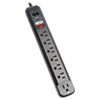 Tripp Lite Surge Protector Power Strip 120V Right Angle 7 Outlet RJ11 Black