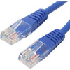 4XEM 15FT Cat6 Molded RJ45 UTP Ethernet Patch Cable (Blue)