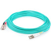 AddOn 3m LC (Male) to SC (Male) Aqua OM3 Duplex Fiber OFNR (Riser-Rated) Patch Cable