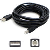 AddOn 10ft USB 2.0 (A) Male to USB 2.0 (B) Male Black Extension Cable
