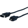 Comprehensive Standard Series IEEE 1394 Firewire 6 pin plug to 4 pin plug cable 6ft