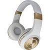 WRLS STEREO HEADPHONES BUILT IN - MICROPHONE WHITE/GOLD