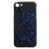 Funda de piel vegana para iPhone 7 Plus - Azul serpiente / Negro