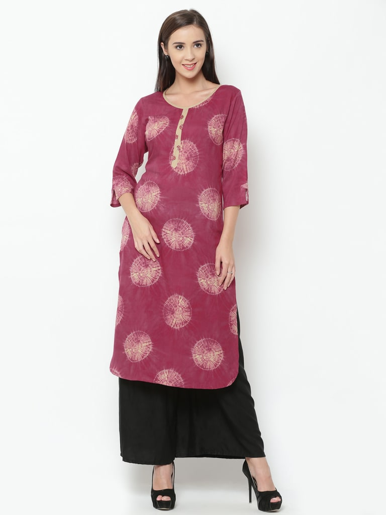 Rayon Blockprinted Kurta