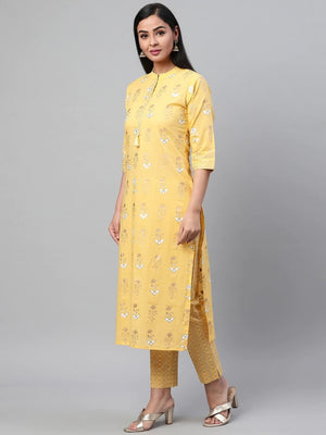 Cotton A-Line Printed Kurta