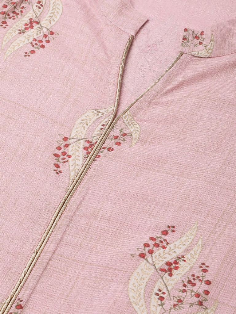 Cotton Straight Floral Print Kurta