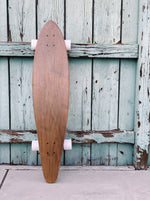 The Nui Pintail Longboard (white wheels)