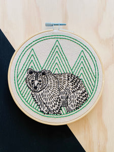 Bear With Me Embroidery Kit
