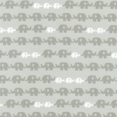 Grey Elephant FLANNEL