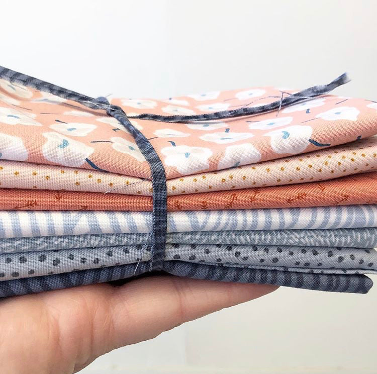 Blushing Blue Fat Quarter Bundle