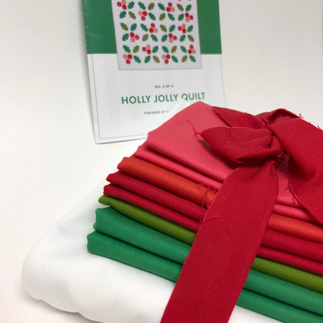 Holly Jolly Quilt Kit - WHITE