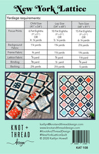 New York Lattice Quilt Pattern
