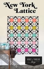 Load image into Gallery viewer, New York Lattice Quilt Pattern