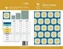 Load image into Gallery viewer, Night Stars Quilt Pattern