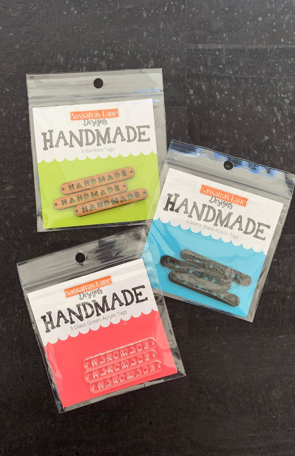 HANDMADE Labels - CLEAR