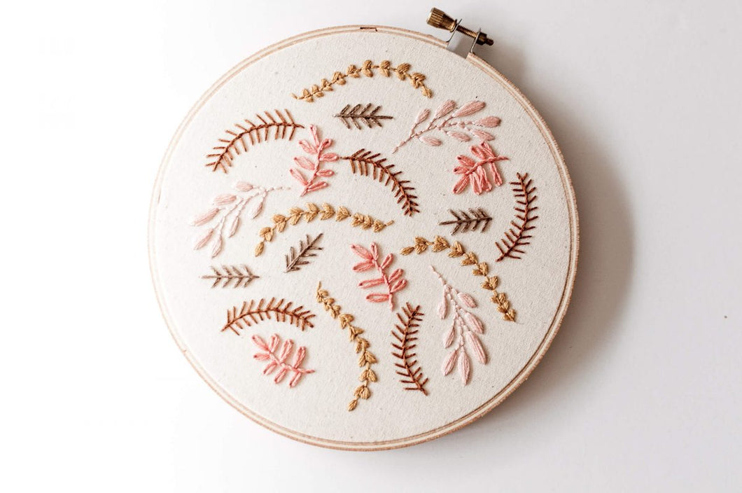 Coral Breeze Embroidery Kit