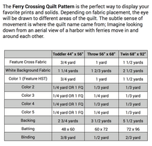 Load image into Gallery viewer, Ferry Crossing Quilt Pattern