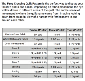 Ferry Crossing Quilt Pattern