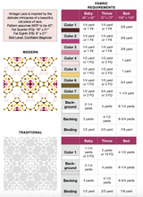 Load image into Gallery viewer, Vintage Lace Quilt Pattern