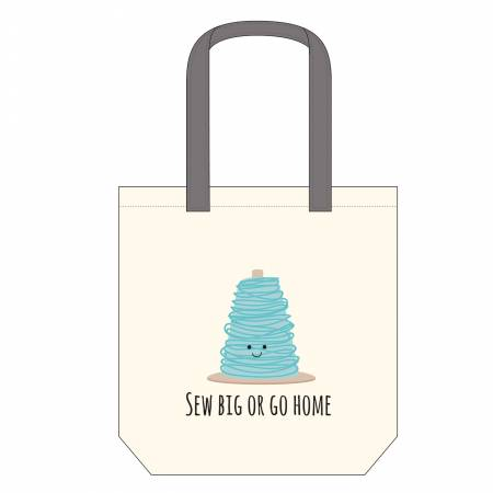 Sew Big or Go Home Canvas Tote Bag