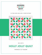 Load image into Gallery viewer, Holly Jolly Quilt Kit - WHITE