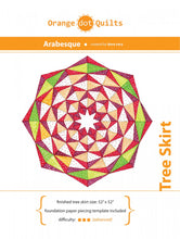 Load image into Gallery viewer, Arabesque Tree Skirt Pattern