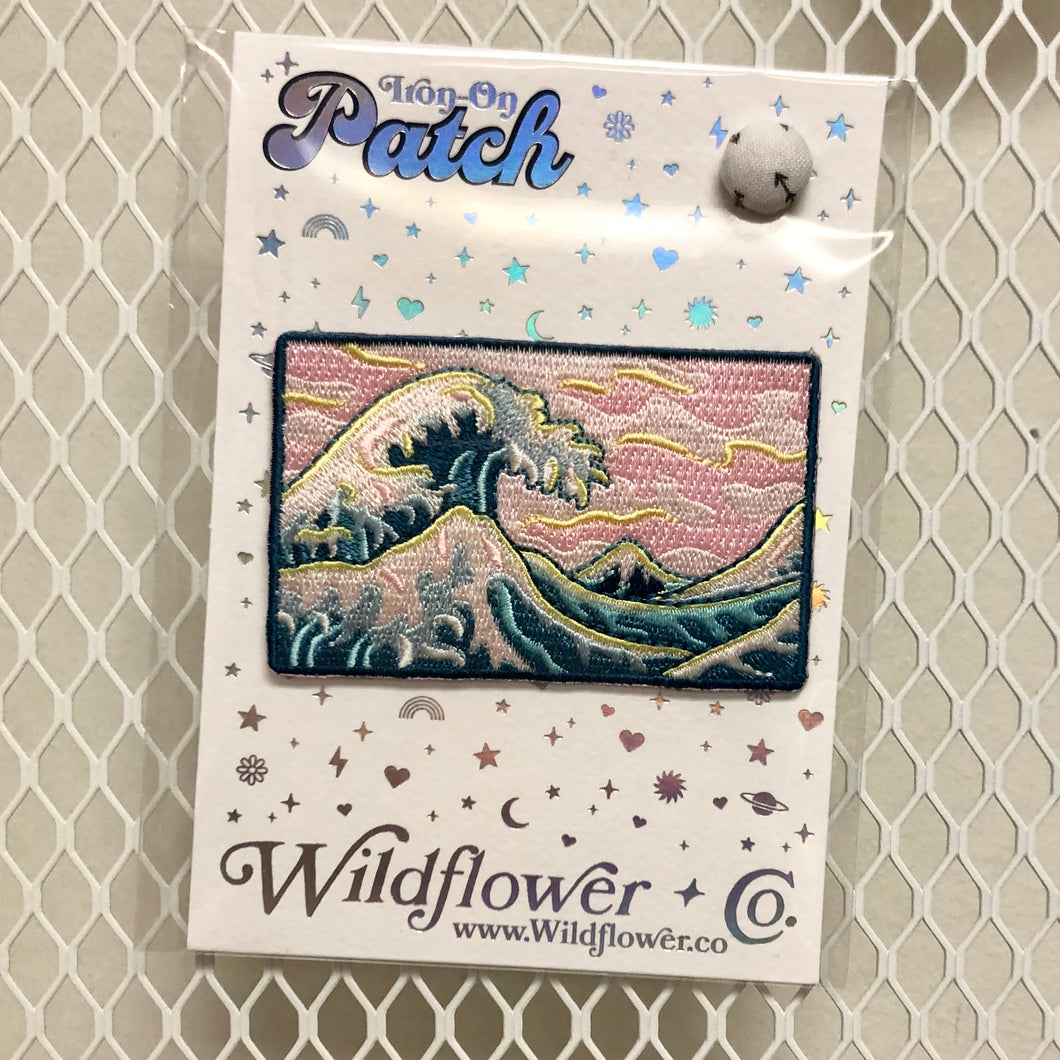 Great Waves & Pink Skies Iron-On Patch
