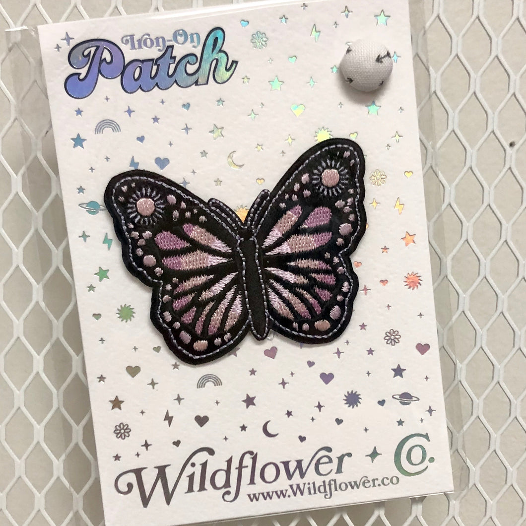 Butterfly - Lilac Iron-On Patch