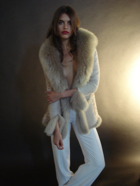 Rose shearling jacket Limited Edition
