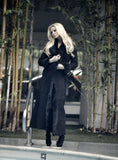 Black Maxi Shearling Coat
