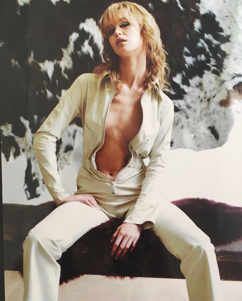 Suede Flight Suit