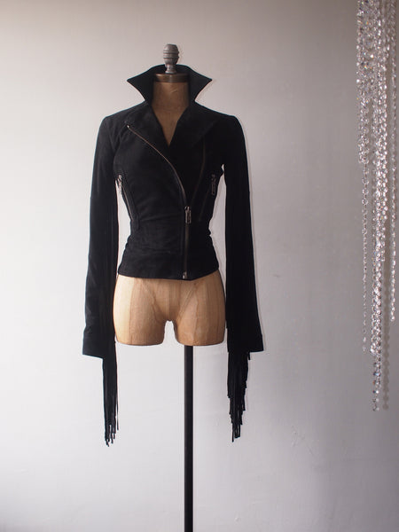 Morrison fringed jacket black
