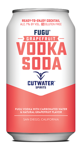 Cutwater Grapefruit Vodka Soda Cocktail 4 Pack 12oz