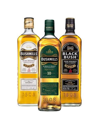 bushmills collection (3 BOTTLES)