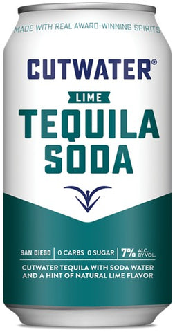 Cutwater Lime Tequila Soda Cocktail 4 Pack 12oz
