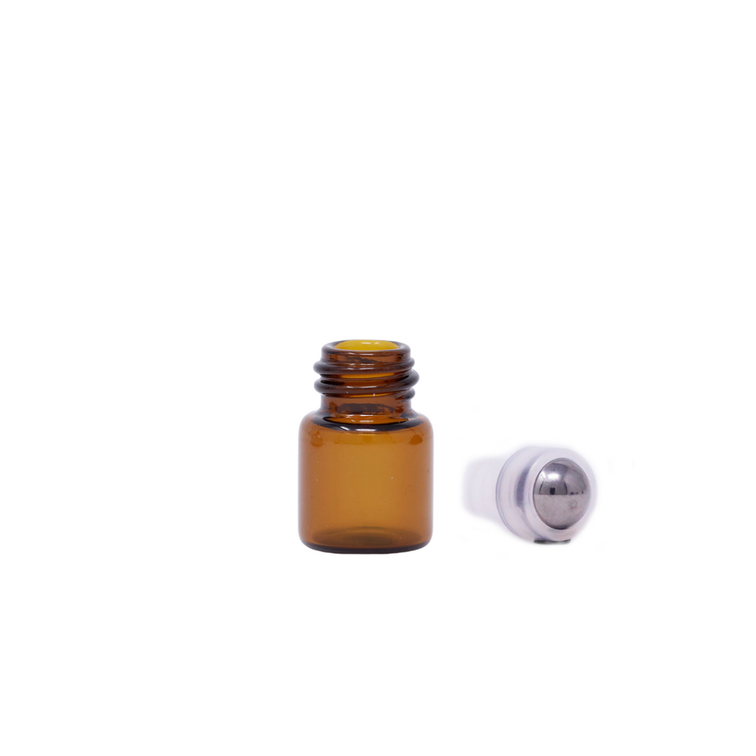 Glass Bottle with Rollerball Insert 1mL