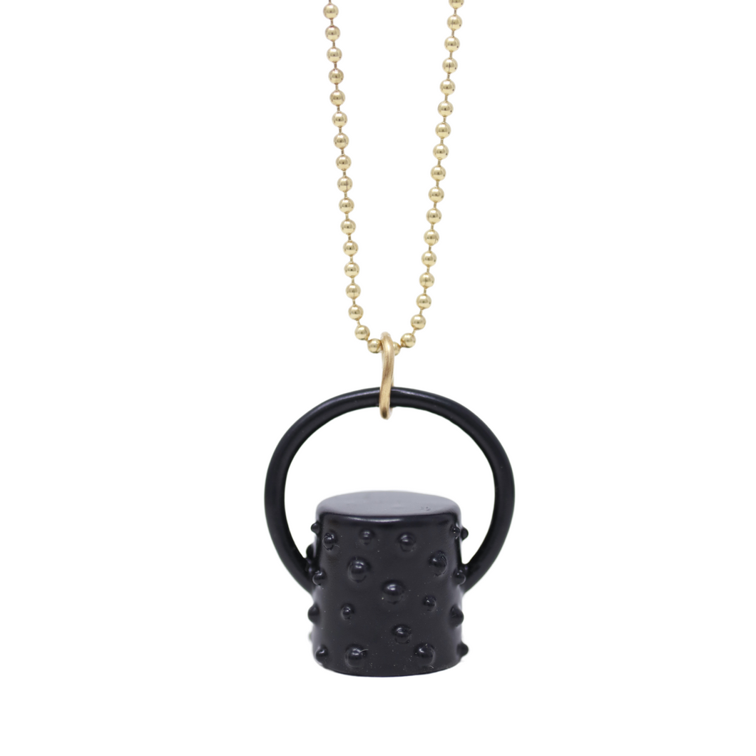 The Midnight Collection Polka Dot Rollerball Bottle Necklace Top