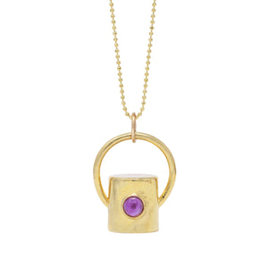 The Amethyst Gemstone Rollerball Bottle Necklace Top