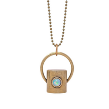 Load image into Gallery viewer, The Opal Gemstone Rollerball Bottle Necklace Top