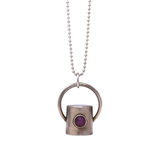 Load image into Gallery viewer, The Ruby Gemstone Rollerball Bottle Necklace Top