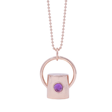 Load image into Gallery viewer, The Amethyst Gemstone Rollerball Bottle Necklace Top