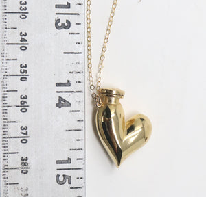 The Floating Heart Bottle Necklace