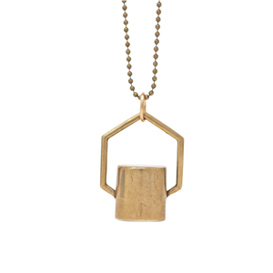The Hexagon Rollerball Bottle Necklace Top
