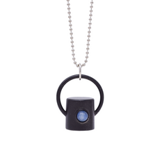 Load image into Gallery viewer, The Midnight Collection Gemstone Rollerball Bottle Necklace Top