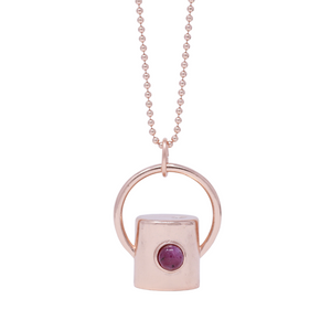 The Ruby Gemstone Rollerball Bottle Necklace Top