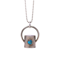 Load image into Gallery viewer, The Chrysocolla Gemstone Rollerball Bottle Necklace Top